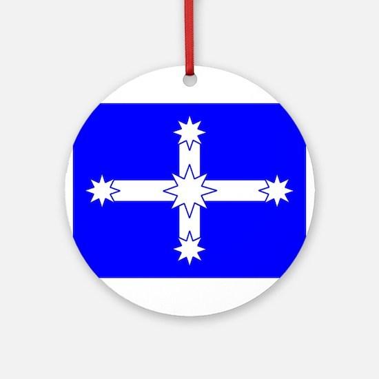 Eureka Flag Ornament (Round)