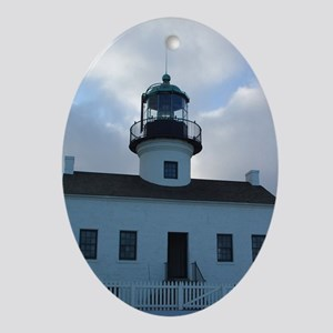 Point Loma Lighthouse Oval Ornament