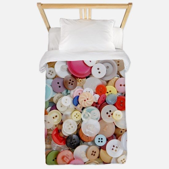 Sew Pretty Billions of Buttons Twin Duvet Cover