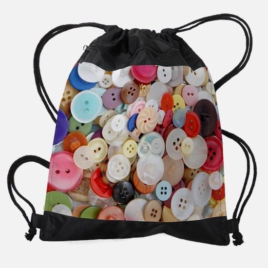 Sew Pretty Billions of Buttons Drawstring Bag