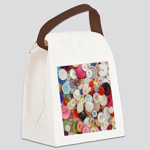 Sew Pretty Billions of Buttons Canvas Lunch Bag