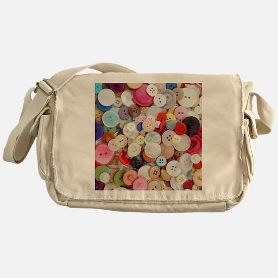 Sew Pretty Billions of Buttons Messenger Bag