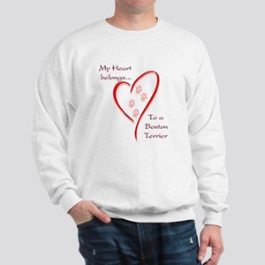 Boston Terrier Heart Belongs Sweatshirt