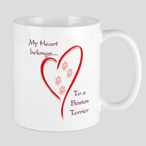 Boston Terrier Heart Belongs Mug