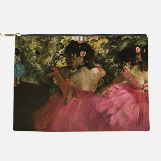 Dancers in Pink by Edgar Degas Makeup Pouch