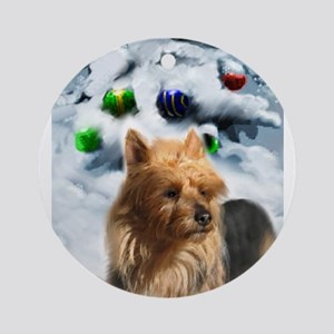 Australian Terrier Christmas Round Ornament
