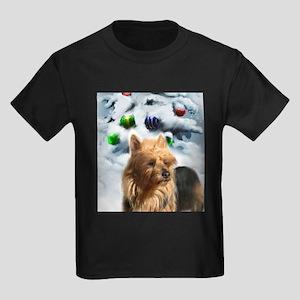 Australian Terrier Christmas Kids Dark T-Shirt