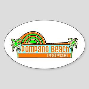 Pompano Beach, Florida Oval Sticker