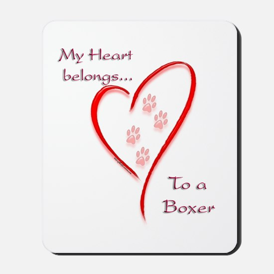 Boxer Heart Belongs Mousepad