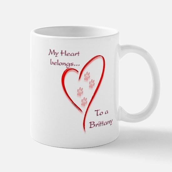Brittany Heart Belongs Mug