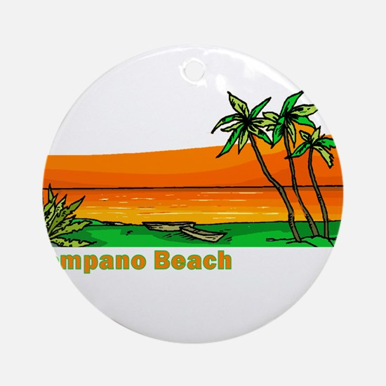 Pompano Beach, Florida Ornament (Round)