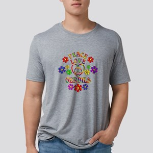 Peace Love Gerbils Mens Tri-blend T-Shirt