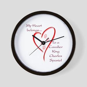 Cavalier Heart Belongs Wall Clock