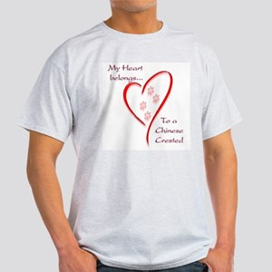 Crested Heart Belongs Ash Grey T-Shirt