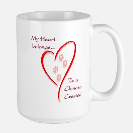 Crested Heart Belongs Large Mug