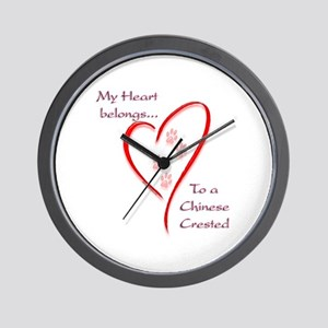 Crested Heart Belongs Wall Clock