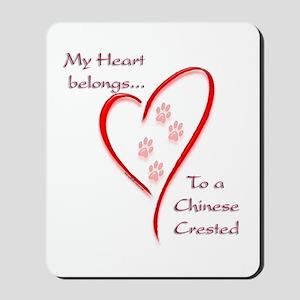 Crested Heart Belongs Mousepad