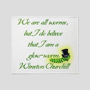 Winston Churchill Throw Blanket