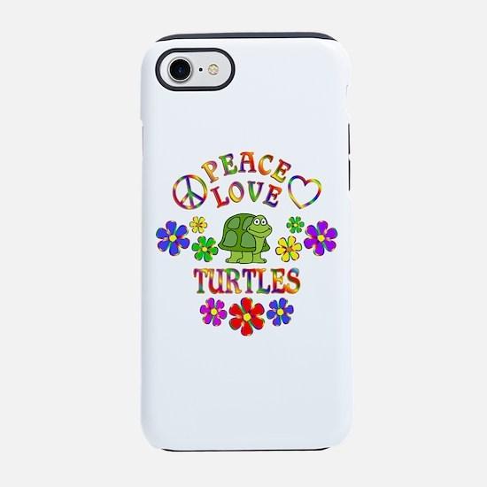 Peace Love Turtles iPhone 7 Tough Case
