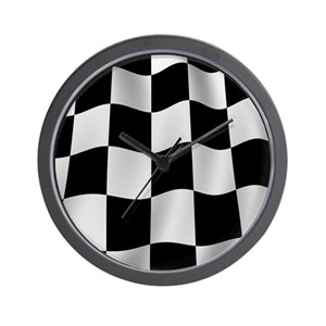 checkered flag wall clocks cafepress
