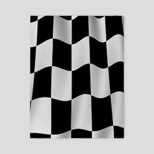 Black Racing Flag Checkerboard Twin Duvet
