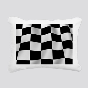 Black Racing Flag Checkerboard Rectangular Canvas