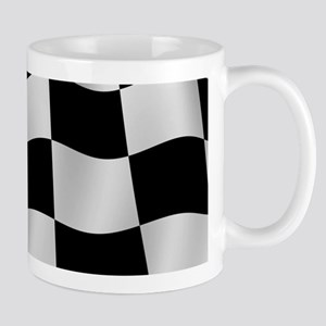 Black Racing Flag Checkerboard Mugs