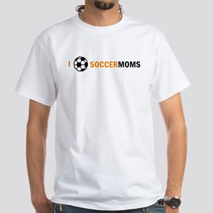 I Ball Soccer Moms White T-Shirt