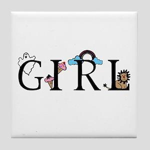 Girl Tile Coaster