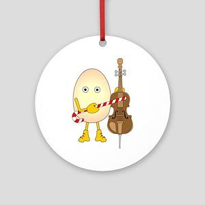 Winter Holioday Cello Round Ornament
