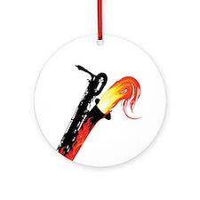 Hot Baritone Sax Ornament (Round)