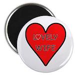 "Lovely Wife Valentine 2.25"" Magnet (10 pack)"