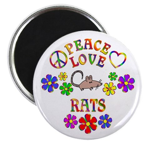 "Peace Love Rats 2.25"" Magnet (10 pack)"