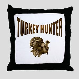 TURKEY HUNTING Throw Pillow