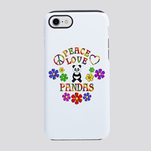 Peace Love Pandas iPhone 7 Tough Case