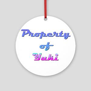 Property Of Yuki Female Round Ornament