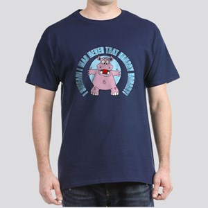 I Was Never That Hungry HIPPO Dark T-Shirt
