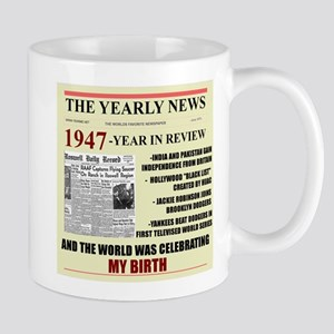 born in 1947 birthday gift Large Mugs
