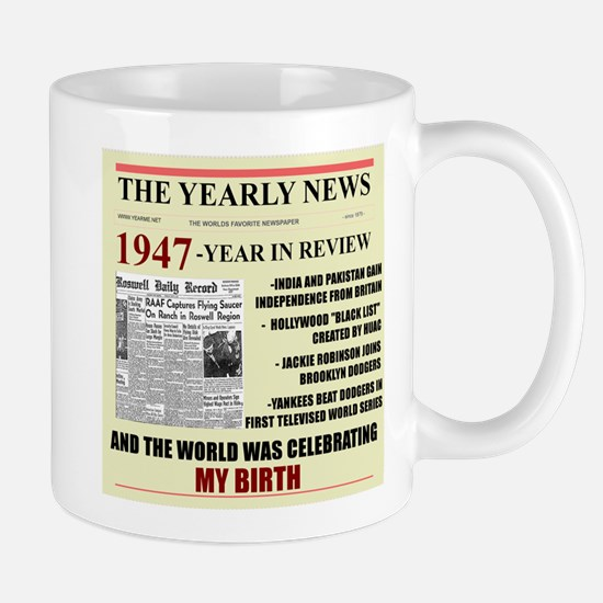 born in 1947 birthday gift Large Mugs