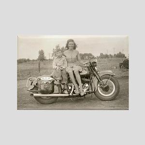 Harley Girl Rectangle Magnet
