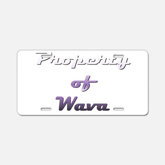 Property Of Wava Female Aluminum License Plate