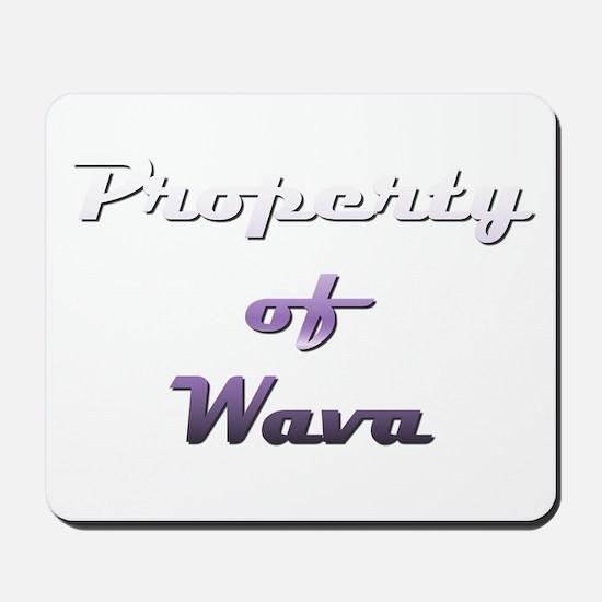 Property Of Wava Female Mousepad