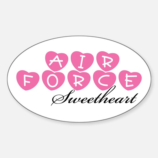 Air Force Sweetheart Oval Decal