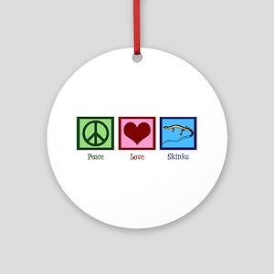 Peace Love Skinks Ornament (Round)