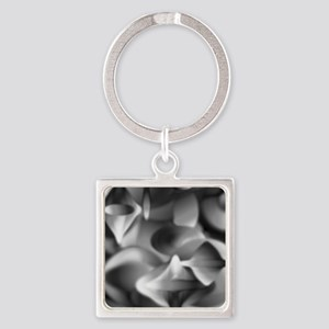 Art Deco Black and White Square Keychain