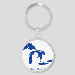 Let's Keep Them Great Round Keychain