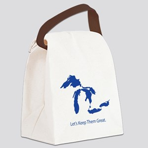 Let's Keep Them Great Canvas Lunch Bag