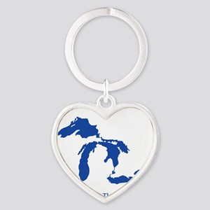 Let's Keep Them Great Heart Keychain