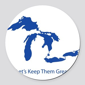 Let's Keep Them Great Round Car Magnet