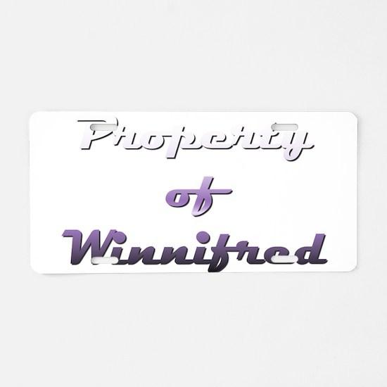 Property Of Winnifred Female Aluminum License Plat